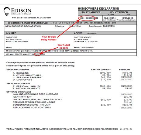 Insurance Invoice Sample